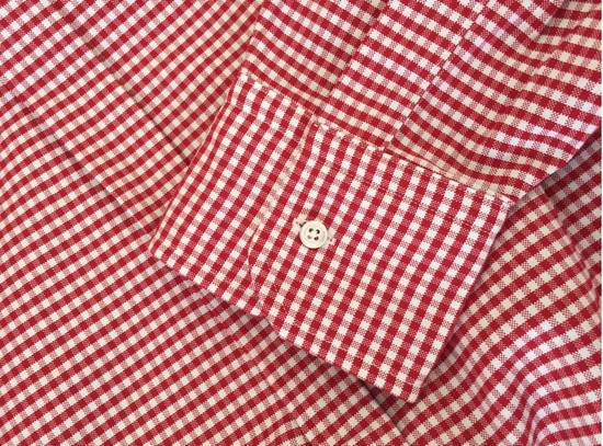 Thom Browne Red Gingham Oxford Button-Down Shirt Size US L / EU 52-54 / 3 - 4