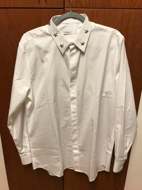 Givenchy White Button Up With Signature Star Studded Collar Size US XS / EU 42 / 0 - 2