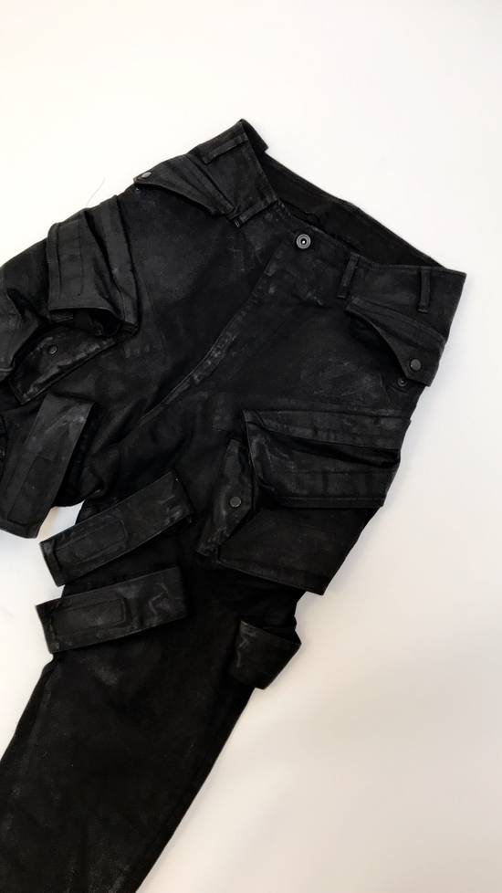 Julius FW15 Sphere/Gas Mask Waxed Denim Cargo Pants Size US 30 / EU 46 - 1