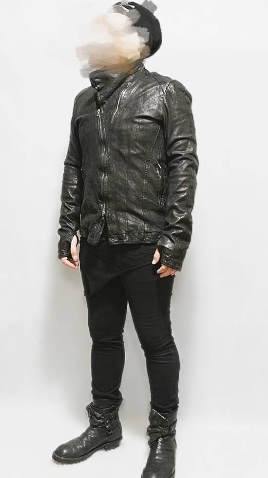 Julius BNWT Size 4 Moldable Collar Leather High Neck Jacket Size US XL / EU 56 / 4