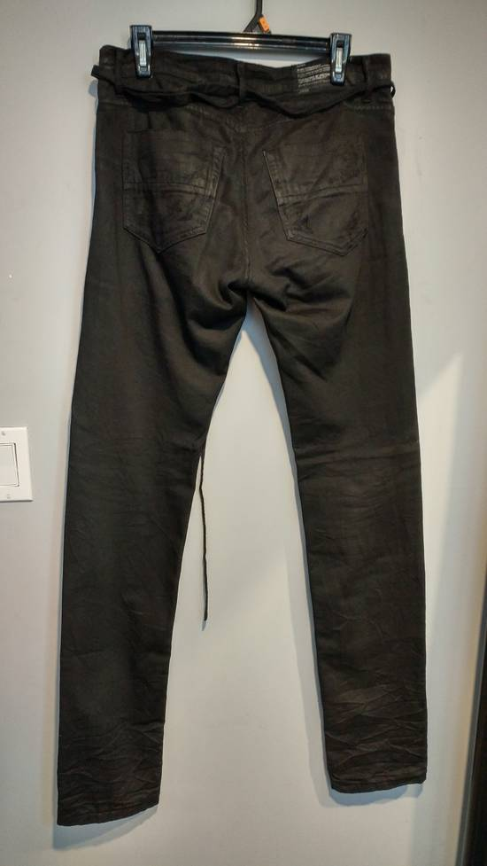 Julius SS11 Paneled Waxed Slim Jeans (sz 2, fits 31-32) Size US 32 / EU 48 - 1