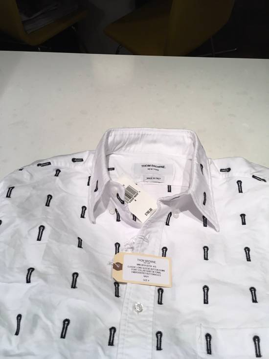 Thom Browne Button-Down Collar Embroidered Cotton Oxford Shirt Brand New With Tags Size 4 Size US L / EU 52-54 / 3 - 3