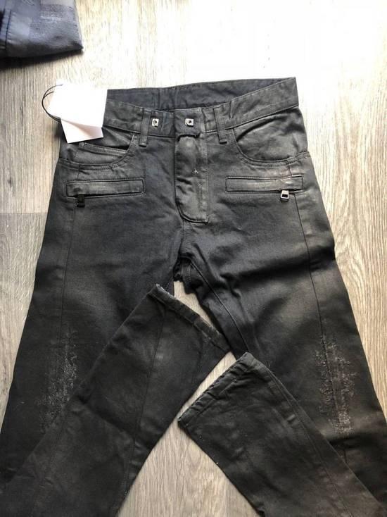 Balmain Balmain Authentic $1090 Waxed Denim Biker Jeans Size 28 Slim Fit Brand New Size US 28 / EU 44 - 1