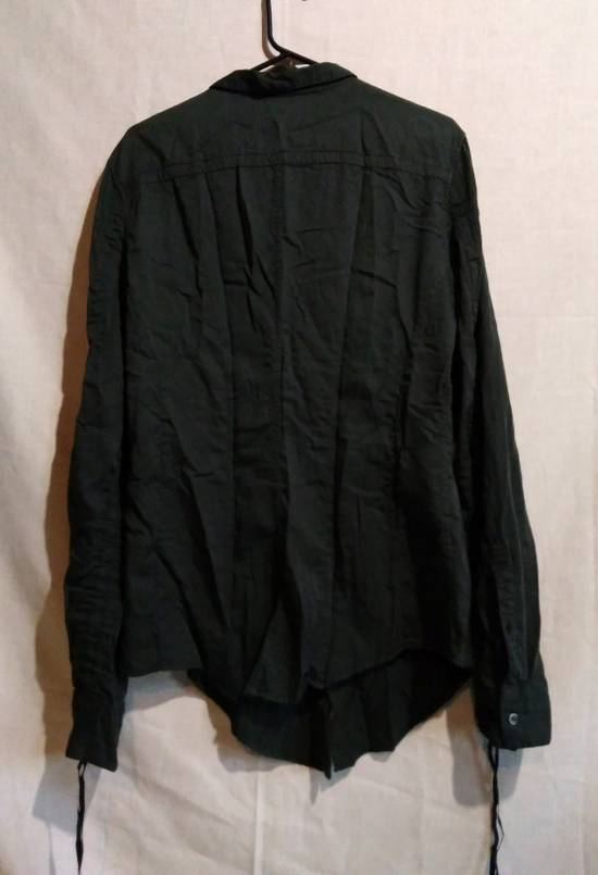 Julius Black Button Down Shirt Cotton/Silk ss10 Size US L / EU 52-54 / 3 - 3