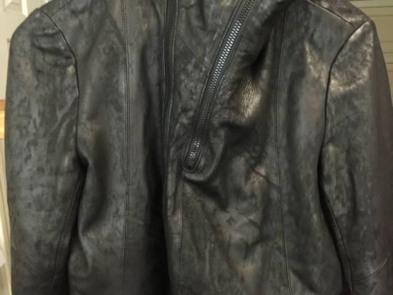 Julius SS17 Treated Lambskin Funnel Neck Jacket Size US L / EU 52-54 / 3 - 6