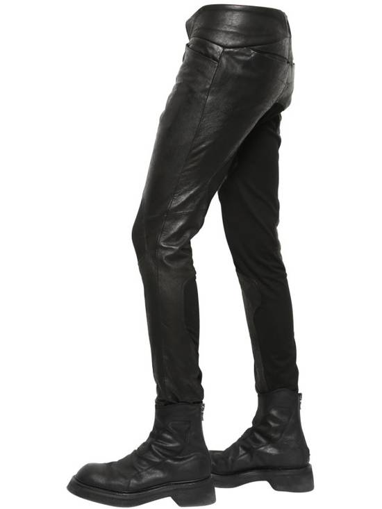 Julius Knee Paneled Leather Biker Pants Size US 30 / EU 46 - 8