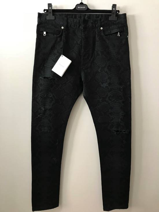 Balmain Size 32 - Distressed Snake Print Rockstar Jeans - FW17 - RARE Size US 32 / EU 48 - 1