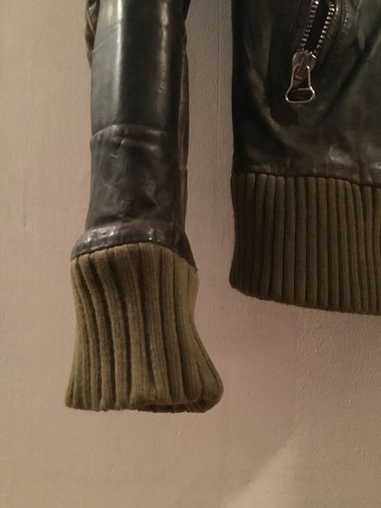 Balmain Decarnin Green Leather Teddy Boy Jacket Size US M / EU 48-50 / 2 - 4
