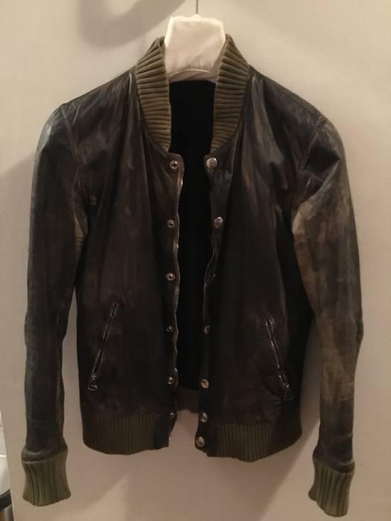 Balmain Decarnin Green Leather Teddy Boy Jacket Size US M / EU 48-50 / 2
