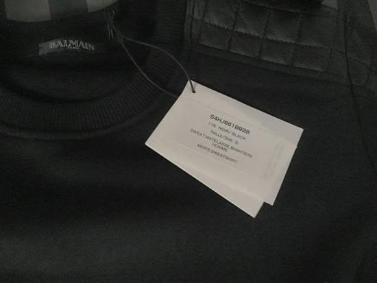 Balmain Balmain quilted leather and cotton sweatshirt Size US S / EU 44-46 / 1 - 5