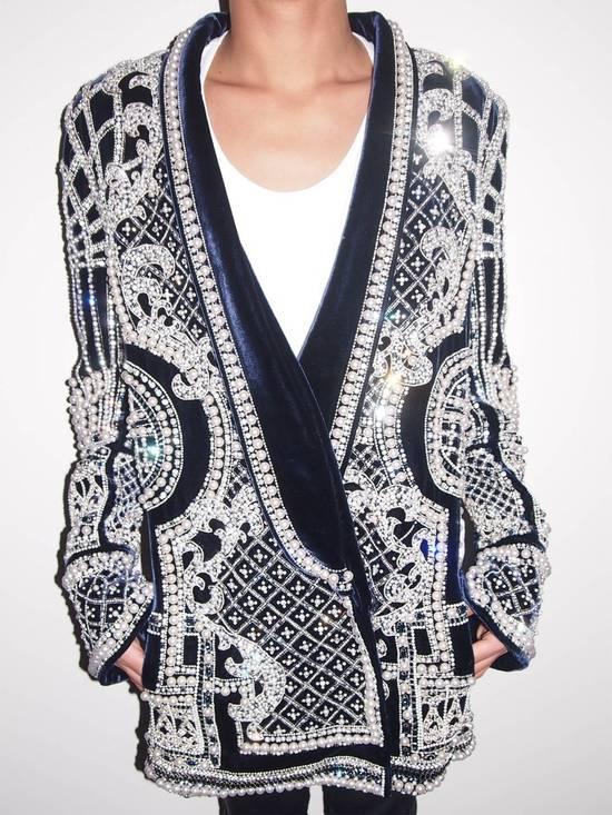 Balmain Balmain Fall 2012 Swarovski Crystal & Pearl Fabergé Tuxedo Size US XXL / EU 58 / 5