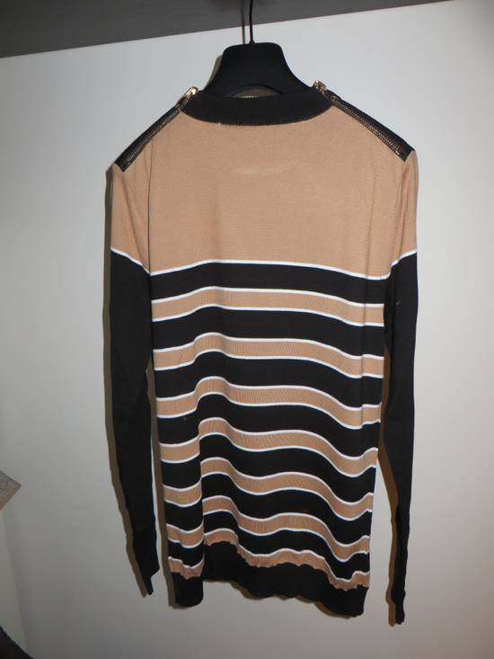Balmain Stripped sweater with zippers Size US L / EU 52-54 / 3 - 5