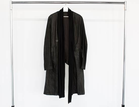 Julius Leather coat with jersey scarf Size US L / EU 52-54 / 3