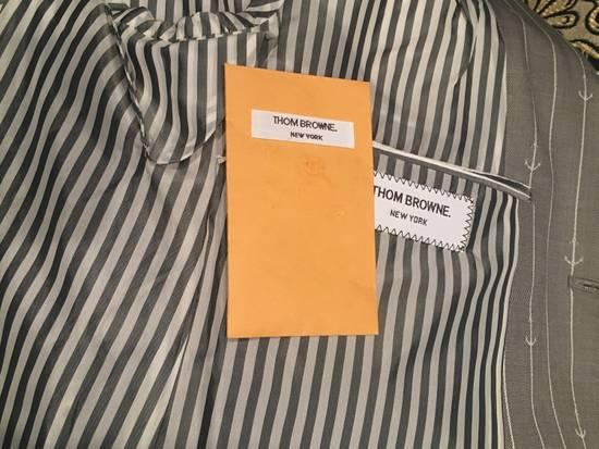 Thom Browne Sport Blazer in Grey/White Anchor Pinstripe Wool Jacquard Size US S / EU 44-46 / 1 - 9