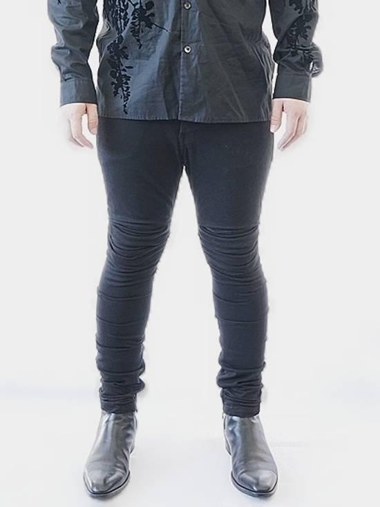 Julius Limited Wrinkle Arch Knee Bottom Zip Biker Jeans Size US 31 - 1