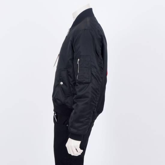 Givenchy 2550$ New Black Padded Nylon Illuminati Patch Bomber Jacket Size US L / EU 52-54 / 3 - 5