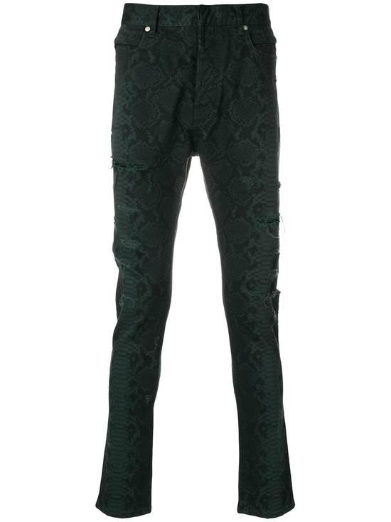 Balmain Size 32 - Distressed Snake Print Rockstar Jeans - FW17 - RARE Size US 32 / EU 48 - 15