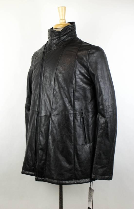 Julius 7 Men's Black Lamb Skin Leather Zip-Up Jacket Size 2/S Size US S / EU 44-46 / 1 - 1
