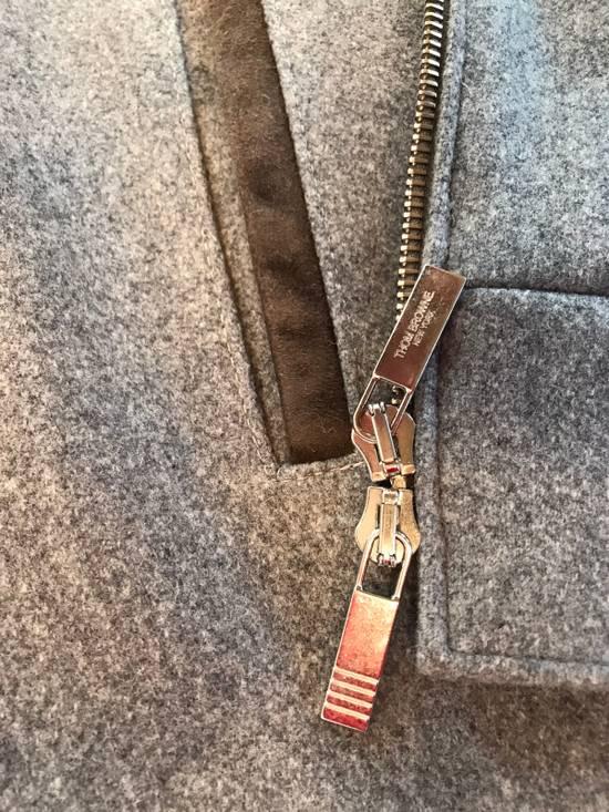 Thom Browne Cashmere & Suede Varsity Jacket Sz 4 Size US L / EU 52-54 / 3 - 5