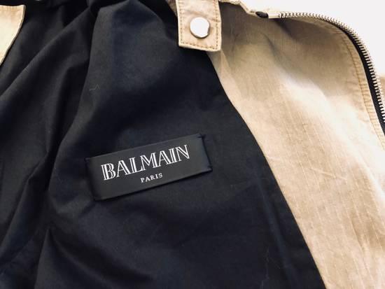 Balmain Canvas Biker Jacket Size US M / EU 48-50 / 2 - 3