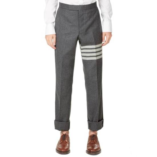 Thom Browne THOM BROWNE STRIPE BACKSTRAP FLANNEL TROUSER Size US 31