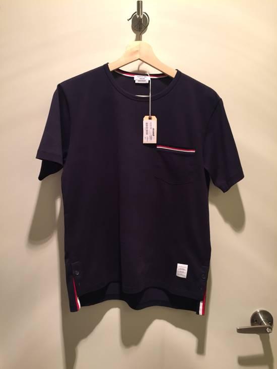 Thom Browne Navy SS Pocket Tee Jersey Cotton Size US S / EU 44-46 / 1
