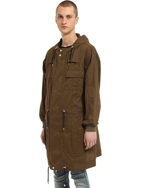 Balmain Balmain Multi Pocket Hooded Cotton Khaki Canvas Authentic $2730 Parka Size S New Size US S / EU 44-46 / 1