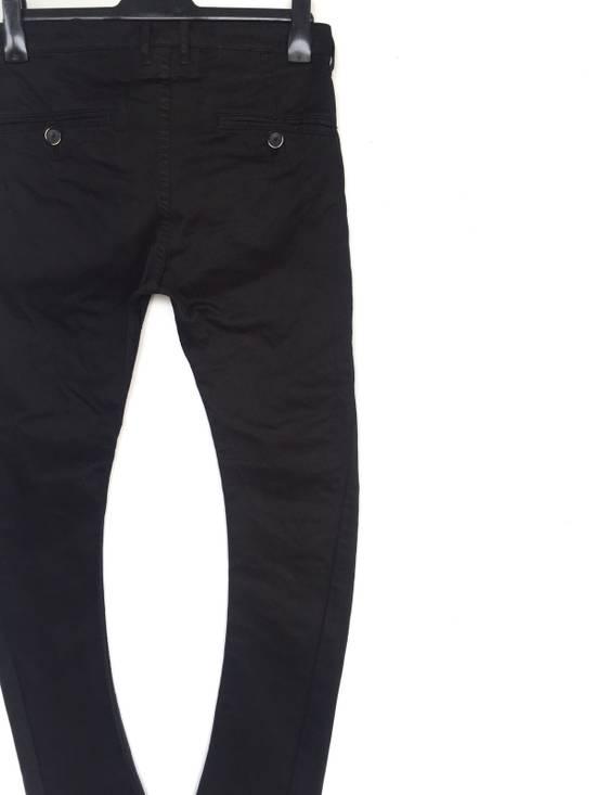 Julius Japanese Artist Designer Blue Tornado Cotton Twill Twist Leg Skinny Trousers Pants Inspired by MA_Julius Size US 30 / EU 46 - 5