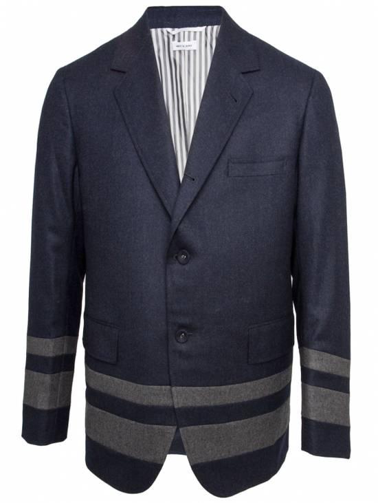 Thom Browne Paneled Chapel Jacket- Flannel Size US S / EU 44-46 / 1 - 5