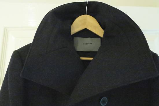 Givenchy BLACK WOOL DOUBLE BREASTED PEA COAT Size US M / EU 48-50 / 2 - 6