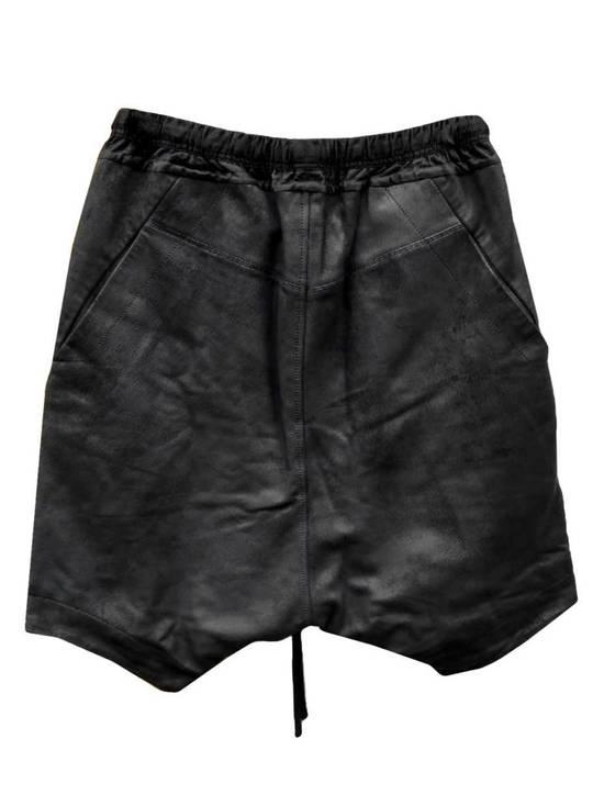 Julius Size 3 - Medium - Leather Julius Black Drop Crotch Shorts - SS16 - $1300 Retail Size US 32 / EU 48 - 1