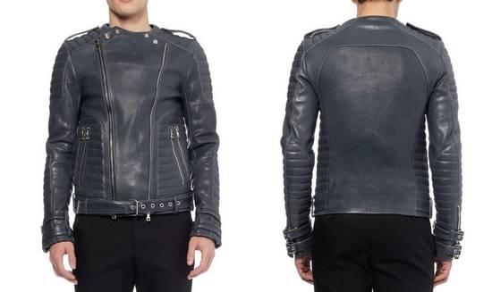 Balmain *Final Drop* Quilted leather biker jacket 54 Size US L / EU 52-54 / 3