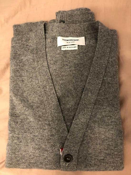 Thom Browne THOM BROWNE Slim-Fit Striped Cashmere Cardigan Size US XL / EU 56 / 4