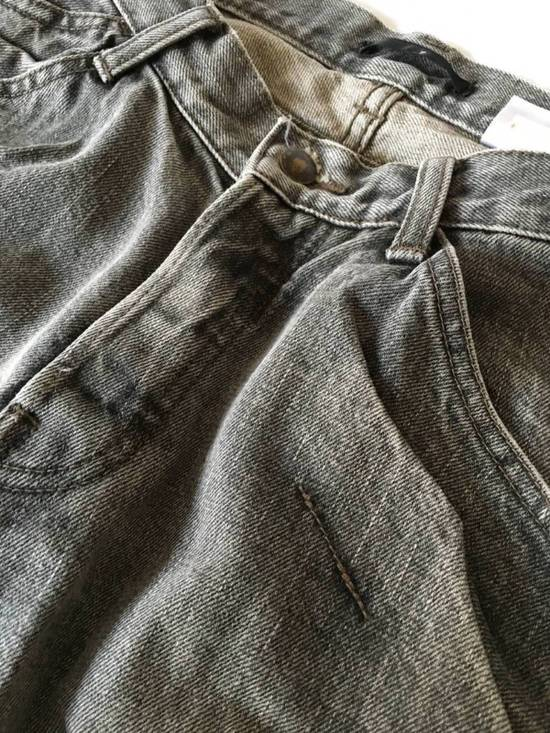 Julius Japan made rugged grey Slouchy distressed Japanese denim jeans Size US 29 - 5