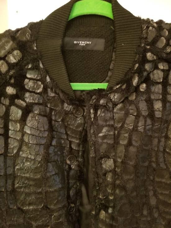 Givenchy Givenchy Black Embossed Crocodile Bomber Jacket Varsity Sample Size 48 50 Paint Size US M / EU 48-50 / 2 - 5
