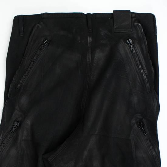 Julius 7 Black Lamb Nubuck Leather Slim Fit Jeans Pants Size 3/M Size US 34 / EU 50 - 3