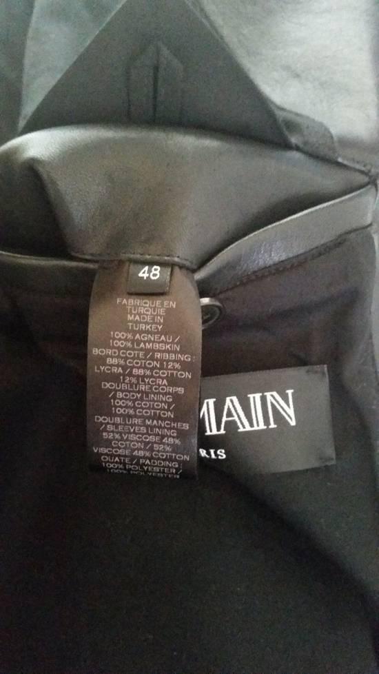 Balmain Black Lambskin Overlong Biker Perfecto Jacket EU48/US38 Size US M / EU 48-50 / 2 - 7