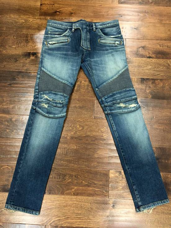 Balmain Balmain Destroyed Slim Fit Biker Jeans Size US 32 / EU 48