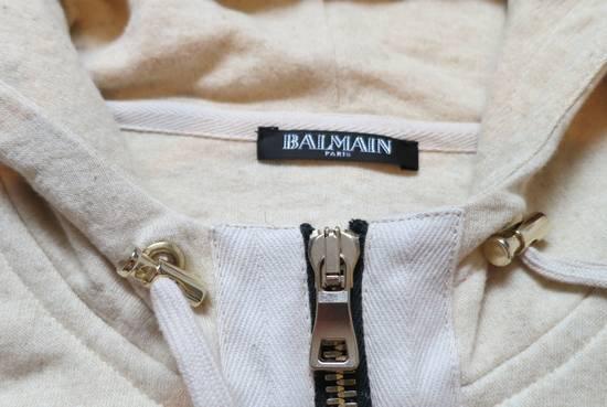 Balmain Zipped Up Cotton/Linen Hoodie Size US XL / EU 56 / 4 - 2
