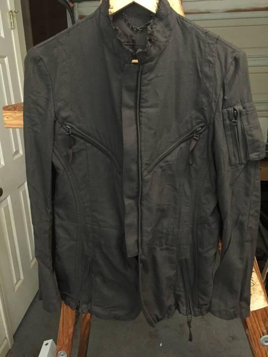 Julius AW06 Multi Zip Distressed Military Jacket Size US XS / EU 42 / 0 - 1