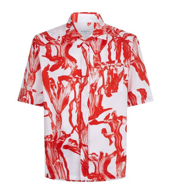 Givenchy Iris Print Short Sleeve Shirt Size US M / EU 48-50 / 2 - 1