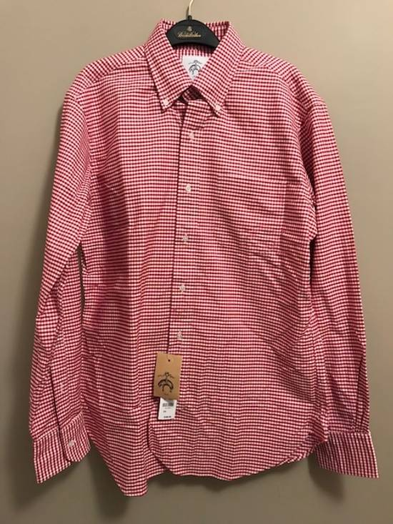 Thom Browne Red Gingham Oxford Button-Down Shirt Size US L / EU 52-54 / 3 - 2