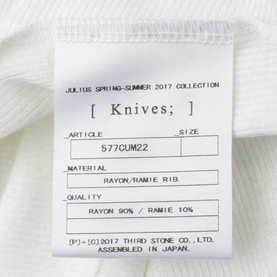 Julius 7 White Rayon Blend Long Ribbed Tank Top T-Shirt Size 4/L Size US L / EU 52-54 / 3 - 4