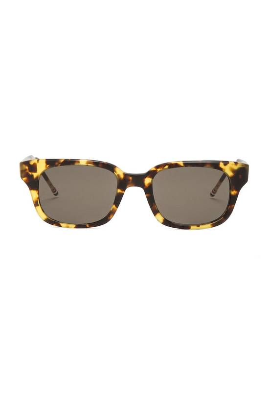 Thom Browne Thick Rectangle Frame Sunglasses MATTE TOKYO TORTOISE Size ONE SIZE