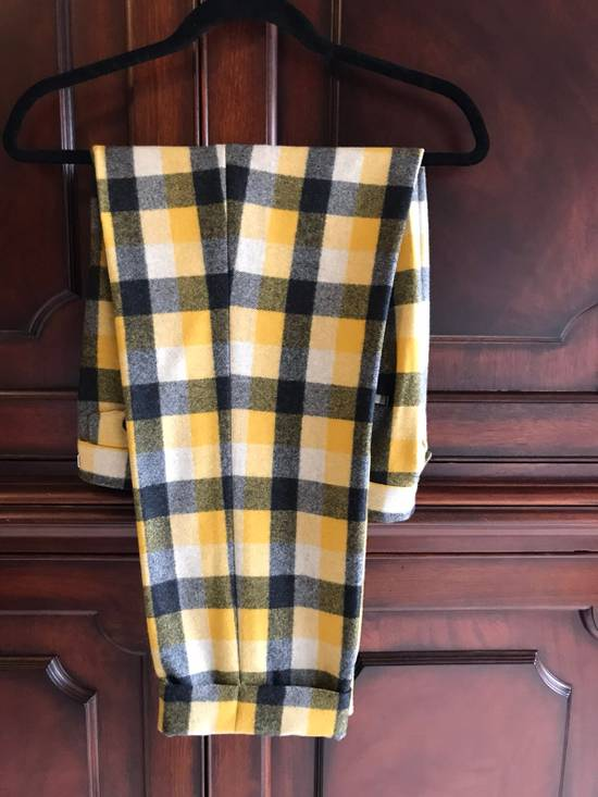Thom Browne Black Fleece Yellow Plaid Trousers In Thick Wool Size US 30 / EU 46