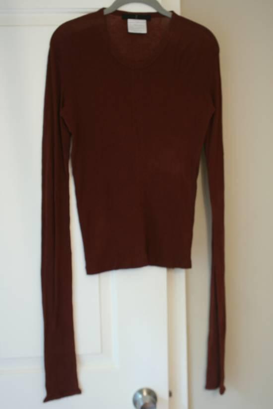 Julius FW08 Blood Red Cotton/Cashmere Rib L/S Size US S / EU 44-46 / 1 - 4