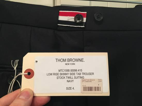 Thom Browne Side Tab Skinny Pants in Navy Twill Wool Size US 36 / EU 52 - 1