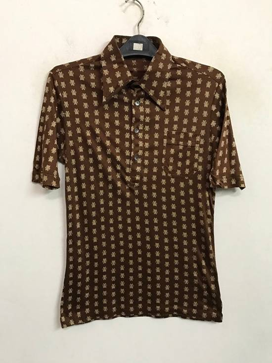 Givenchy Luxury Designer GIVENCHY Gentleman Paris Made in France Atomic Print Retro Collar Shirt Size US M / EU 48-50 / 2