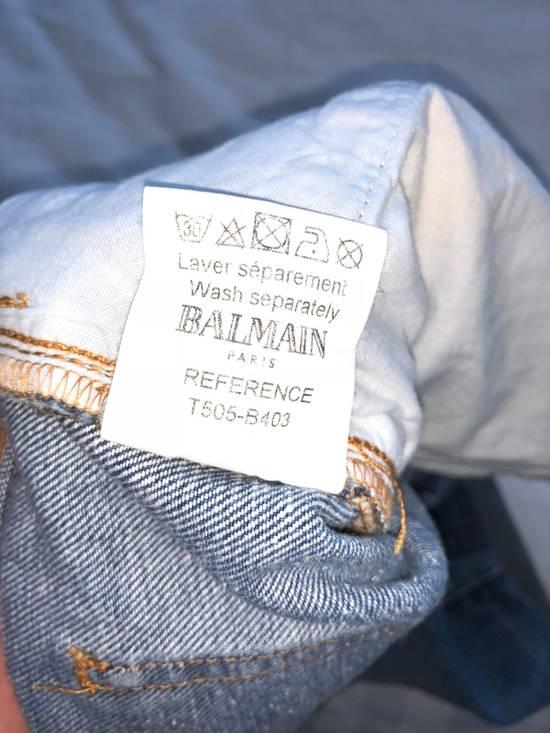 Balmain [Final Drop] Distressed Denim Shorts Size US 34 / EU 50 - 2