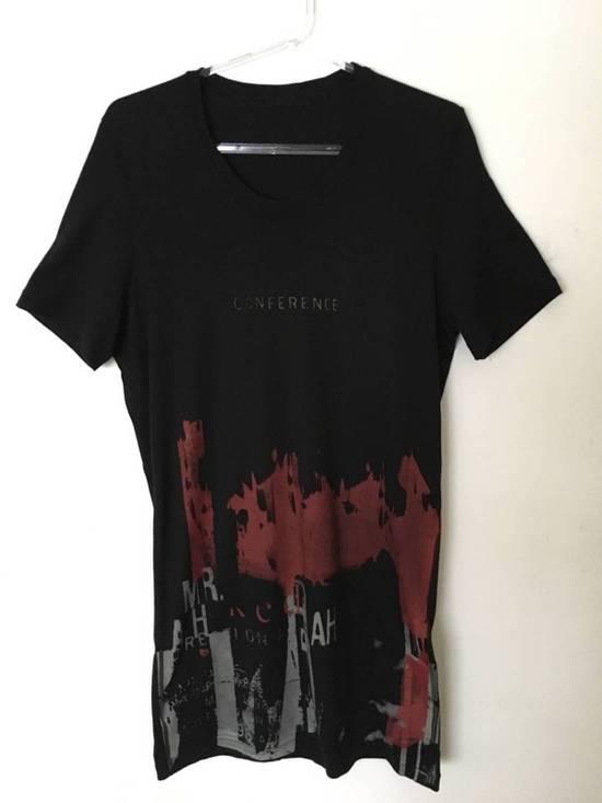 Julius Japan made black printed silk and cotton jersey longline tshirt Size US M / EU 48-50 / 2 - 1